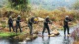 武警桂林支队特战队员交叉掩护前进