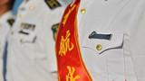 护航十周年纪念章熠熠生辉。张海龙摄