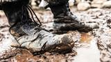 """《青春的""""注脚""""》。在高原驻训地,战友们把青春年华的美好时光镌刻在深山密林里,每天风里进雨里出,稀泥裹满了战靴,雨水浸湿了衣襟……这双战靴的主人,23岁下士黄文力说,这就是青春的""""注脚""""。"""