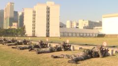 驻澳门部队新兵比武考核检验训练成果