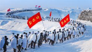 """-20℃严寒来袭 官兵顶风冒雪锻造过硬""""铁脚板"""""""