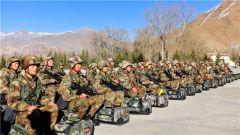 西藏军区某炮兵旅开展节日战备演练