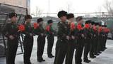 新战士入队仪式现场,新兵完成入队仪式。