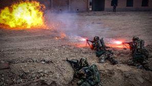 高能预警!带你感受大漠戈壁上火热的练兵备战场景