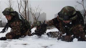 安徽武警:冰天雪地砺炼处突精兵