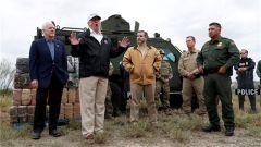 特朗普视察美墨边境 为建边境墙造势