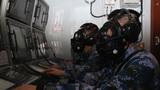 防核生化演练,参训官兵严阵以待。