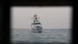 舰艇拖带。