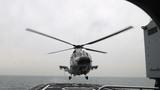 直升机起降训练。