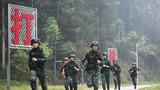 特战队员在进行五公里武装越野训练。