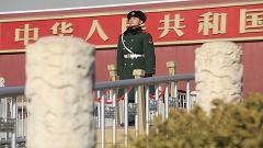 武警北京总队天安门地区支队:寒风中站岗执勤