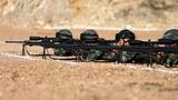 特战官兵进行狙击精度射击训练