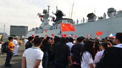 中国海军第三十批护航编队结束访菲启程回国