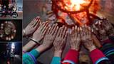这是乌英苗寨四代女人四双手的拼版照片(2018年1月13日摄)。乌英苗寨位于黔桂交界的大苗山深处,经济发展缓慢,扶贫任务艰巨。苗寨群众用一双双勤劳的手,拔穷根摘穷帽,一起创造美好的明天。新华社记者 黄孝邦 摄