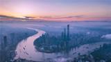 晨光中的上海陆家嘴(2018年6月21日无人机拍摄)。新华社记者 任珑 摄