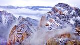 2018年11月17日无人机拍摄的华山雪景。新华社记者 陶明 摄