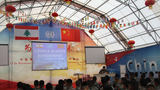 维和官兵组织春节前战备教育,强化官兵战备意识。