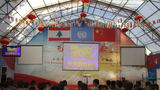 维和官兵集体观看央视春节联欢晚会,感受来自祖国的浓厚年味。