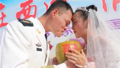 海军驻西沙某水警区集体婚礼让永兴岛遍开幸福之花