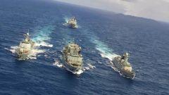 【新春走基层 记者在战位】海军远海联合训练编队战时补给演练