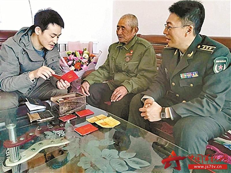 """山東省膠州市膠萊鎮南王珠村,(0)曾參加抗美援朝""""五圣山阻擊戰""""的尖刀班班長、91歲高齡的老兵寧祥勛"""