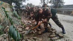 自贡荣县发生4.9级地震 武警官兵紧急投入救援