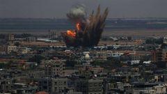 以色列军队轰炸加沙地带哈马斯军事目标