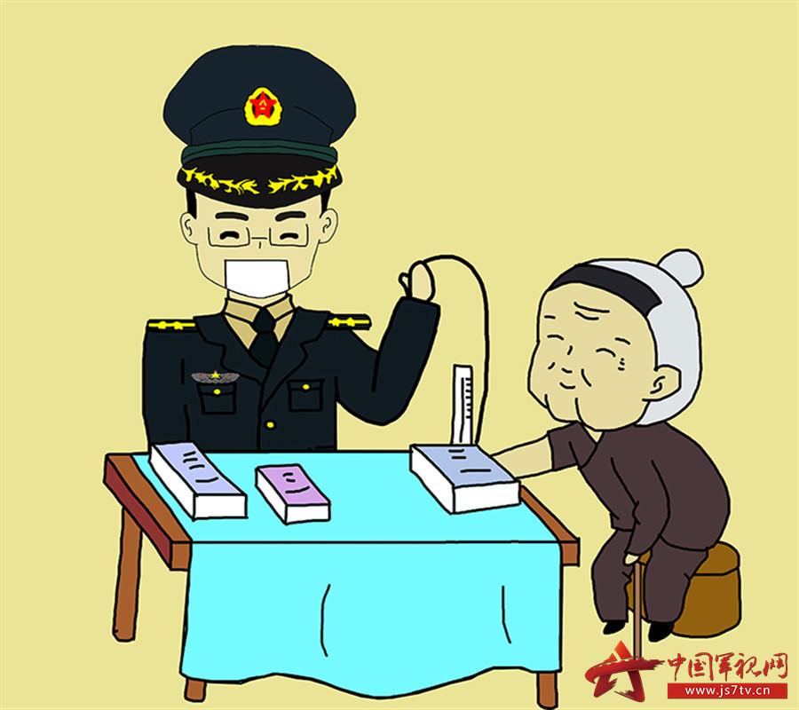 09血压每星期测一次,奶奶见证了我从学员到中尉的全过程。,_副本