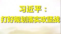 习近平:打好规划落实攻坚战