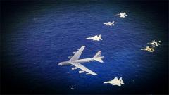 应对潜在危险 美日澳3国战机联合出击练战斗力