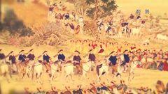 乾隆南巡检阅部队 竟有骑兵失足掉下马