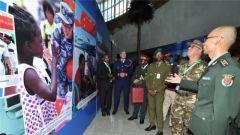 """国防部:""""维护世界和平的中国军队""""展览在非盟总部举行"""