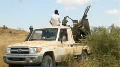 """利比亚冲突持续 """"国民军""""战机被击落"""