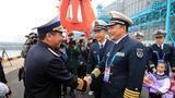 4月21日,越南军舰抵达青岛。(尚文斌 摄)