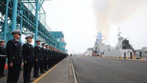【直击现场】参加多国海军活动的外国军舰陆续抵达