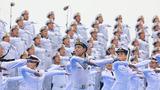 歌舞《人民海军向前进》。(尚文斌 摄)