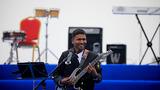 孟加拉国海军军乐队演奏。(尚文斌 摄)