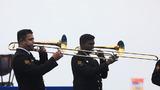 印度海军军乐队演奏。(尚文斌 摄 )