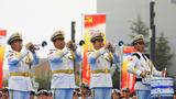 中国海军军乐队演奏。(尚文斌 摄)