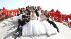 最美四月天 金蕭支隊集體婚禮浪漫滿屏