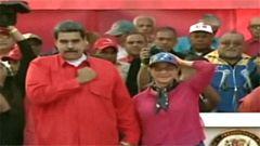 委内瑞拉首都民众大规模游行
