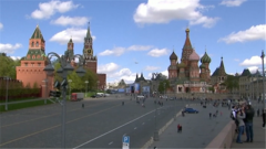 俄罗斯举行胜利日阅兵式第二次彩排