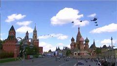 俄罗斯举行第二次胜利日阅兵彩排
