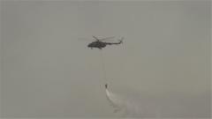 錦州義縣突發山火 陸航直升機緊急馳援