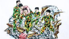 """漫畫追憶丨11年前行走在廢墟上的""""迷彩綠"""""""