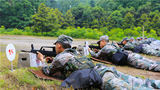 步槍臥姿射擊比賽。