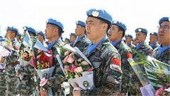 中国第六批赴马里维和部队第一梯队凯旋