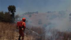 云南:武警官兵紧急扑救森林大火