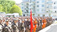 重慶市黔江區人武部:軍地聯合展開森林火災撲救應急演練