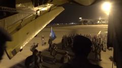 第17批赴黎维和部队第一梯队官兵回国